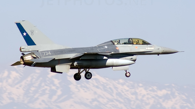 734 - General Dynamics F-16BM Fighting Falcon - Chile - Air Force