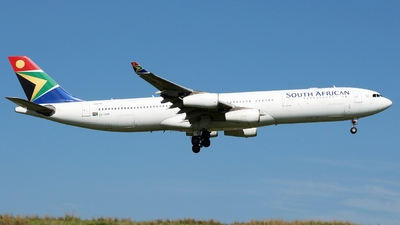 ZS-SXF - Airbus A340-313X - South African Airways
