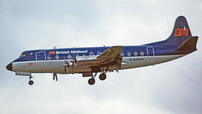 G-AZNA - Vickers Viscount 813 - British Midland