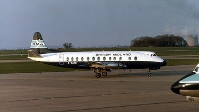 G-BAPE - Vickers Viscount 814 - British Midland