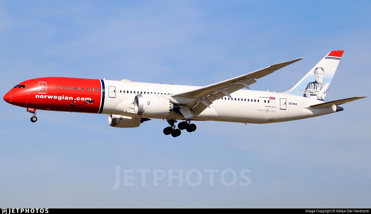 SE-RXZ - Boeing 787-9 Dreamliner - Norwegian