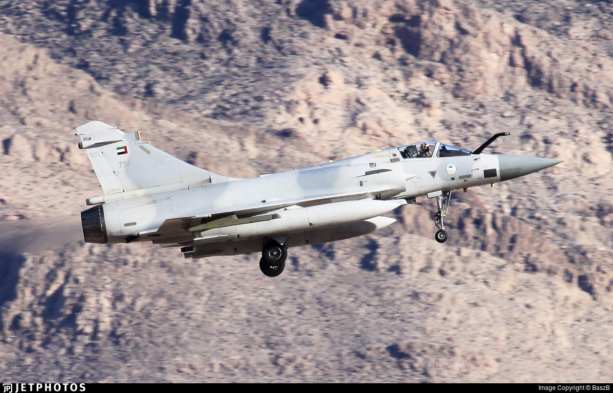 734 - Dassault Mirage 2000-9 - United Arab Emirates - Air Force