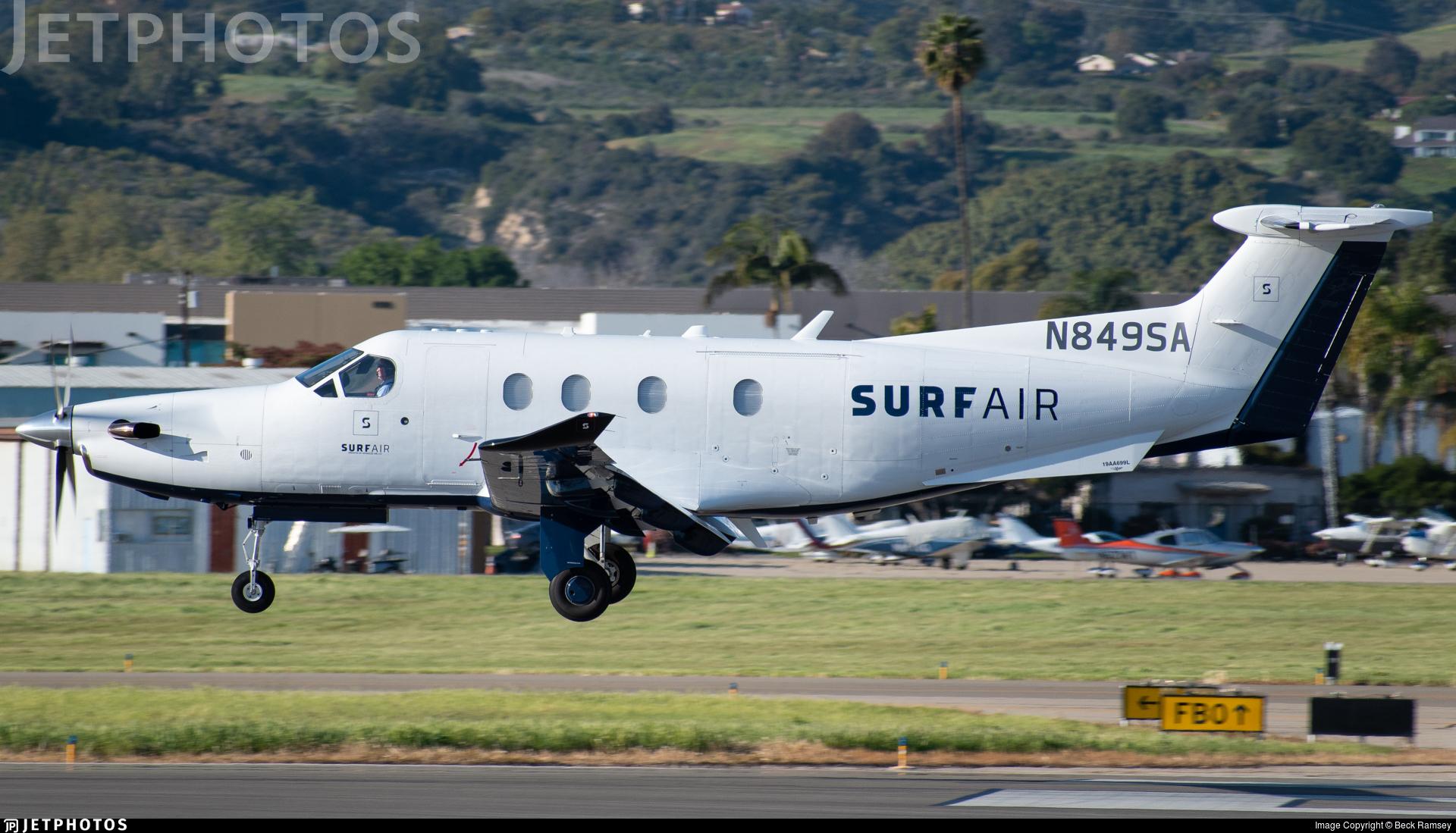 N849SA - Pilatus PC-12/47E - SurfAir