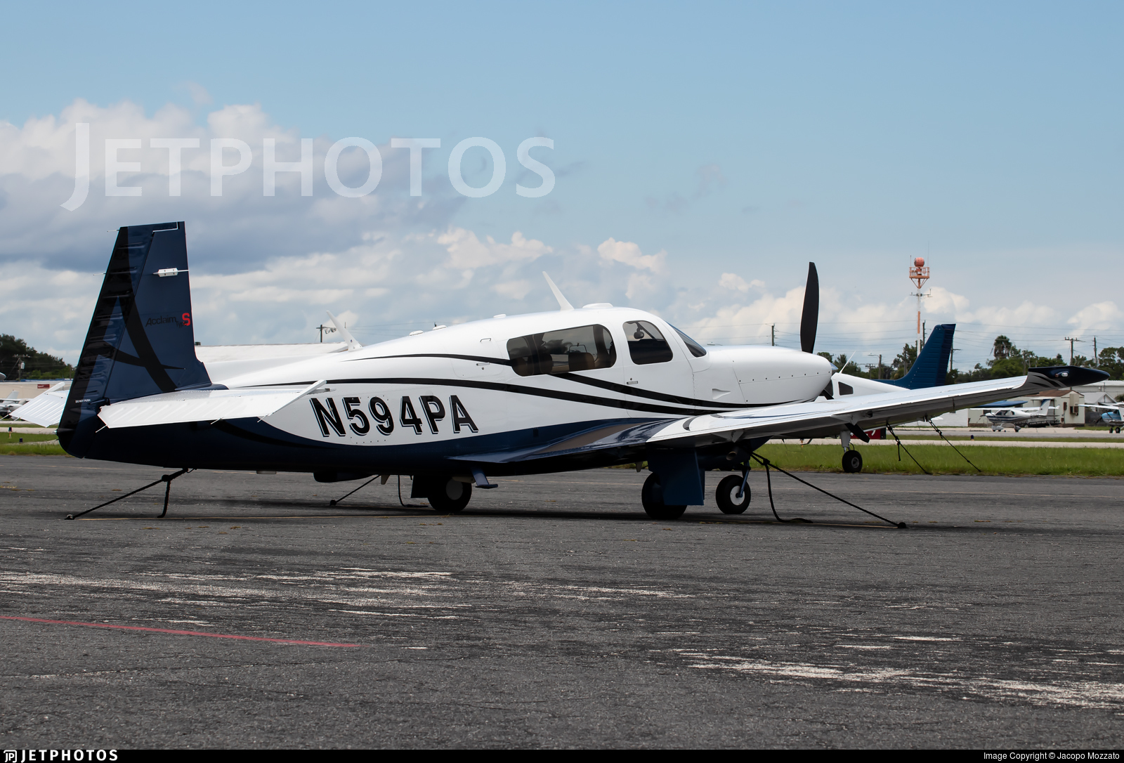 N594PA - Mooney M20TN - Private