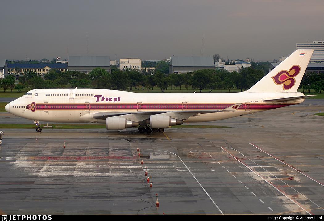 HS-TGA - Boeing 747-4D7 - Thai Airways International