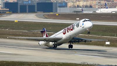 TC-AKN - McDonnell Douglas MD-83 - Ankair