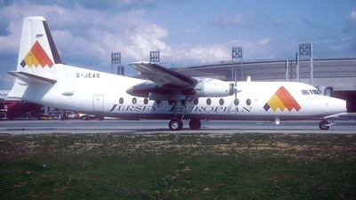 G-JEAG - Fokker F27-500 Friendship - Jersey European Airways