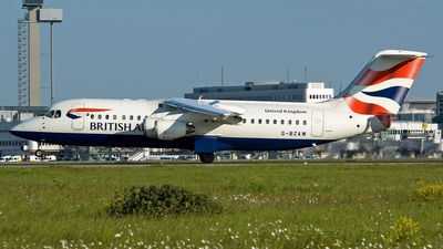 G-BZAW - British Aerospace Avro RJ100 - British Airways (CityFlyer Express)