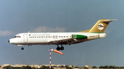 5A-DTG - Fokker F28-4000 Fellowship - Libyan Arab Airlines