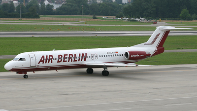 D-AGPA - Fokker 100 - Air Berlin (Germania)