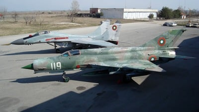 119 - Mikoyan-Gurevich MiG-21bis Fishbed L - Bulgaria - Air Force