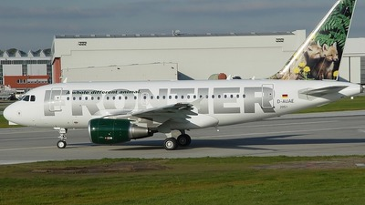 D-AUAE - Airbus A318-111 - Frontier Airlines