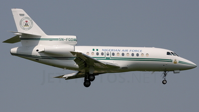 5N-FGO - Dassault Falcon 900 - Nigeria - Air Force
