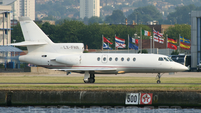 A picture of LXFMR - Dassault Falcon 50 - [165] - © Phil Newson