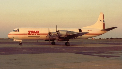 LN-FOG - Lockheed L-188A(F) Electra - DHL (Fred Olsen Air Transport)