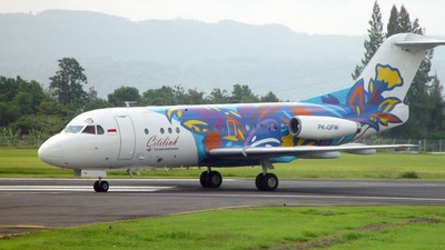 PK-GFW - Fokker F28-3000 Fellowship - Citilink