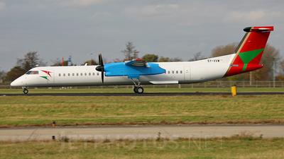 A picture of 5YVVW - De Havilland Canada Dash 8400 PF - Bluebird Aviation - © Paul Hogenboom