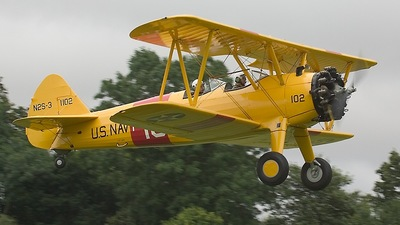 G-AZLE - Boeing N2S-5 Stearman - Private