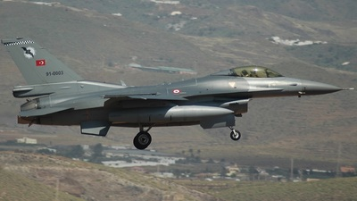 91-0003 - Lockheed Martin F-16C Fighting Falcon - Turkey - Air Force