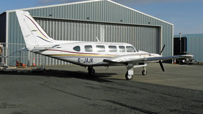 A picture of GJAJK - Piper PA31350 -  - © D Kelly- IoM Pics
