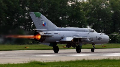 5603 - Mikoyan-Gurevich MiG-21MFN Fishbed J - Czech Republic - Air Force