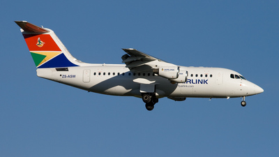 ZS-ASW - British Aerospace Avro RJ85 - Airlink