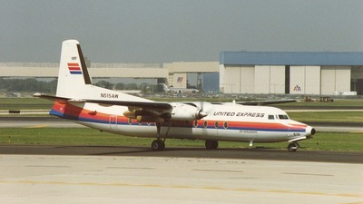 N515AW - Fokker F27-500 Friendship - United Express (Air Wisconsin)