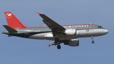 N343NB - Airbus A319-114 - Northwest Airlines