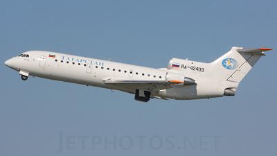 A picture of RA42433 - Yakovlev Yak42 - Tatarstan Air - © Alex Morozov