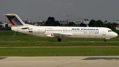 F-GPXB - Fokker 100 - Air France (Brit Air)