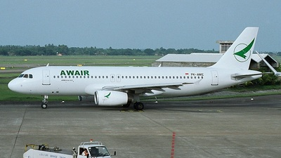 PK-AWE - Airbus A320-232 - AWAir