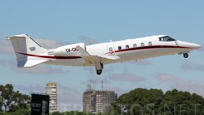 LV-CIO - Bombardier Learjet 60 - Private
