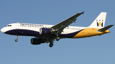 G-OZBJ - Airbus A320-212 - Monarch Airlines