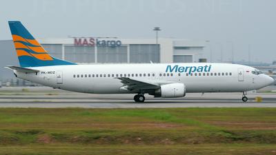 PK-MDZ - Boeing 737-4Q8 - Merpati Nusantara Airlines