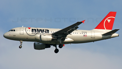 N334NB - Airbus A319-114 - Northwest Airlines