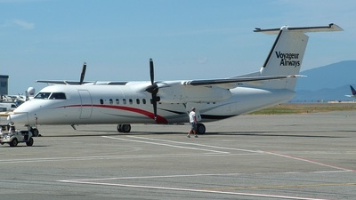 A picture of CGHQZ - De Havilland Canada Dash 8300 - Voyageur Airways - © Curtis K