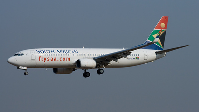 ZS-SJM - Boeing 737-85F - South African Airways
