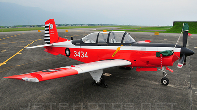 3434 - Beechcraft T-34C Turbo Mentor - Taiwan - Air Force