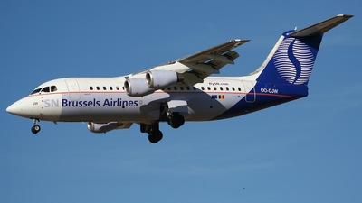 OO-DJW - British Aerospace Avro RJ85 - SN Brussels Airlines