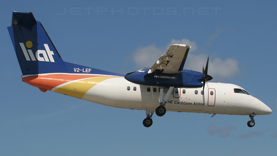 V2-LEF - Bombardier Dash 8-103 - Leeward Islands Air Transport (LIAT)
