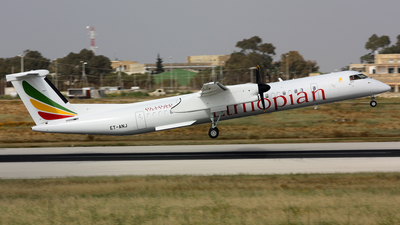 A picture of ETANJ - De Havilland Canada Dash 8400 - Ethiopian Airlines - © Brendon Attard