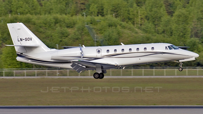 LN-SOV - Cessna 680 Citation Sovereign - Sundt Air