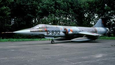 D-8312 - Lockheed F-104G Starfighter - Netherlands - Royal Air Force