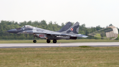 4103 - Mikoyan-Gurevich MiG-29 Fulcrum - Poland - Air Force