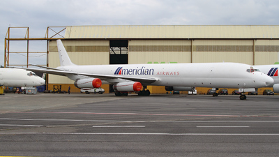 9G-AXD - Douglas DC-8-63(F) - Meridian Airways