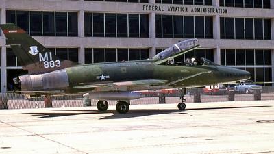 56-3883 - North American F-100F Super Sabre - United States - US Air Force (USAF)
