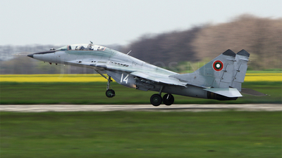 14 - Mikoyan-Gurevich MiG-29UB Fulcrum - Bulgaria - Air Force