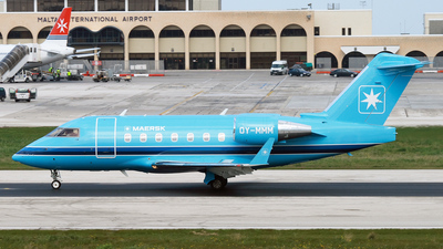 OY-MMM - Bombardier CL-600-2B16 Challenger 604 - Maersk Air