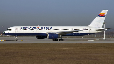 4X-EBO - Boeing 757-236 - Sun d'Or International Airlines