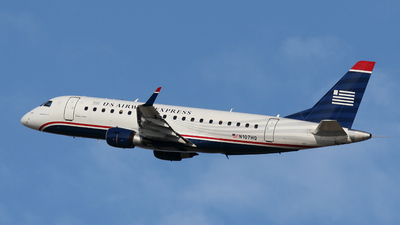 N107HQ - Embraer 170-200LR - US Airways Express (Republic Airlines)